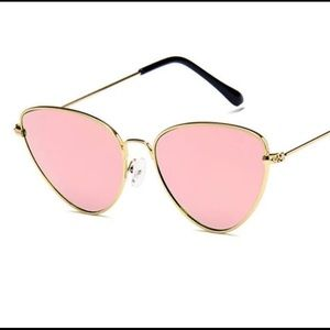 Accessories - Pink and Gold Cat Eye Sunglasses NWOT